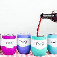 Swig Engraved Stemless Wine Cup
