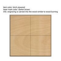 Set of 4 Wood Squares