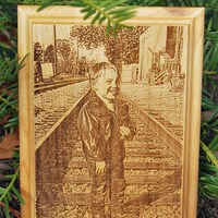 Custom Engraved Wooden Plaque - Portrait